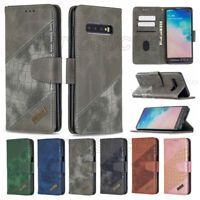 For Samsung Galaxy S20 S10 S9 Plus Note 20 Leather Wallet Flip Case Stand Cover