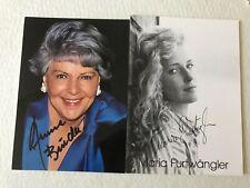 Autogramm Aenne Burda 2005+ und Schwiegertochter Maria Furtwängler TATORT 20-3 #