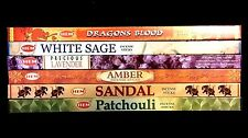 Dragons Blood White Sage Sandal Amber Patchouli Lavender 48 HEM Incense Sampler