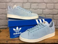 ADIDAS LADIES UK 5 EU 38 BLUE SUEDE STAN SMITH TRAINERS