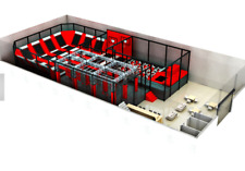 2,500 sqft Commercial Trampoline Park Dodgeball Climb Gym Inflatable We Finance
