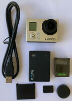 Gopro Hero 3 Silver Edition Camera with extra Bacpac batteries bundle