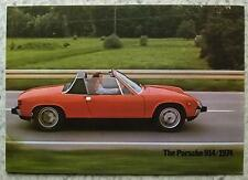 PORSCHE 914/1974 SPORTS CAR Sales Brochure 1974 #1034.21