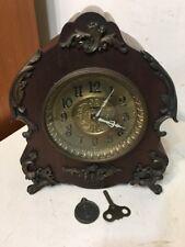 Rare Antique Ornate Ingraham Mantle Clock