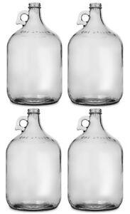 Glass Jug 1 Gallon Carboy Fermenter (Pack of 4)