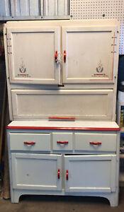 Antique Sellers Hoosier Kitchen Cupboard Original Paint Nice Vintage Item!