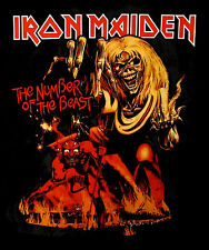 IRON MAIDEN cd cvr NUMBER OF THE BEAST Official SHIRT SMALL new