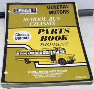 1979-1980 GMC Chevrolet Truck Parts Book Medium Duty School Bus Chassis GM