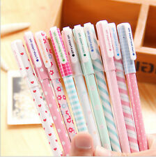 10PCS Cute Little Korean Watercolor Pen Gel Pens Set Color Kandelia Stationery