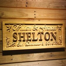 Wpa0247 Personalized Last Name Wood Engraving Wedding Gift Wooden Sign