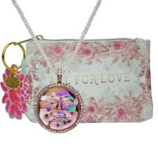 Gold Tone Beaded Necklace And Purse Kirks Folly Seaview Water Moon Pendant Rose
