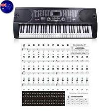 Transparent 54 61 88 Keys Electronic Keyboard Piano Stave Note Key Stickers AU