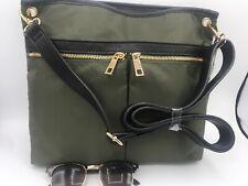 New A New Day Olive Green Messenger Cross Body Bag Purse Bonus Sunglasses