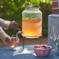 IKEA Glas mit Zapfhahn mit Ständer 5L Getränkespender Wasserspender Saft Bowle