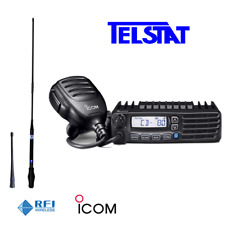 ICOM IC-410Pro IC410 80 channel UHF CB Radio + RFI CD963 Twin Antenna Pack