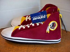 NFL Washington Redskins Plush House Lounge Slippers Sneaker Style sz 7/8 9/10
