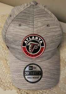 ATLANTA FALCONS NEW ERA 3930 NFL20 SIDELINE 393 FITTED M/L GRAY GEOMETRIC $36