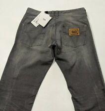 New Dolce & Gabbana Mens Jeans Grey Distressed Regular Fit W32 L34 RRP£395