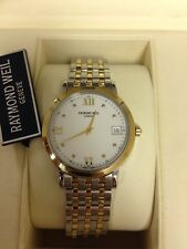 Raymond Weil Toccata 5764 Mens Two Tone Watch Retail Price $750