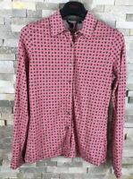 Boden Ladies Size 10 Pink Pattern Blouse Shirt With Bag