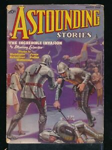 ASTOUNDING STORIES August 1936 Science Fiction Pulp Magazine SPACE KNIGHTS Cover
