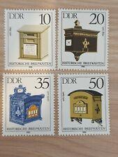 East Germany DDR 1985 Letter-boxes. 4 stamp set MNH