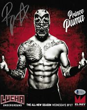 Prince Puma Signed 8x10 Photo BAS COA Ricochet Pro Wrestling Lucha Underground 2