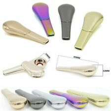 Newest Rainbow Portable Spoon Smoking Pipe Magnetic metal Tobacco Accessories