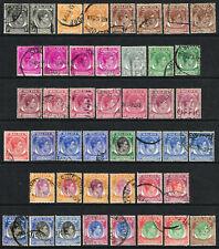 SINGAPORE 1948-52 KG VI PERF 17½ x 18 SET GOOD-FINE USED SG 16-30