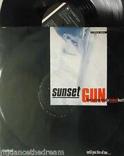 """SUNSET GUN ~ How Can You Mend A Broken Heart ~ 12"""" Single PS"""