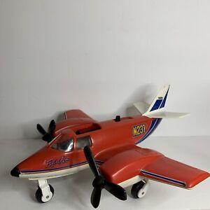 Vintage 1979 Tonka Hand Commander Turbo Prop Toy Plane Rare Red N231