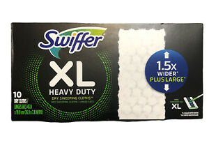 Swiffer XL HEAVY DUTY Dry Sweeping Cloths Pad Refills All Floor Types 10ct