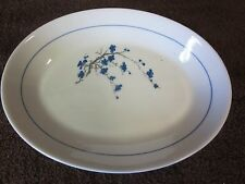 """Small Platter with Blue Flowers Oxford 1870-1 9 1/2"""" x 7 1/4"""" x 1"""" Deep"""