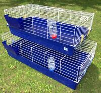 Rabbit Bunny Guinea Pig Indoor Cage Hutch 80cm 100cm 120cm Single & Double Tier