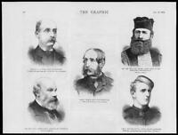 1879 - Antique Print PORTRAITS Goad Hay Whyte-Melville Artom Daniel     (073)
