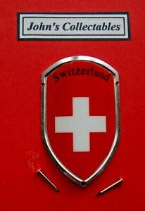 SWITZERLAND WALKING / HIKING STICK BADGE  / MOUNT  LOT M NEW IN PACKET