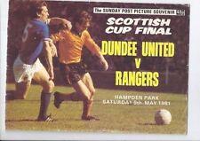 Away Teams O-R Scottish Cups Final Football Programmes