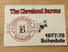 1977-78 Cleveland Barons NHL Hockey Pocket Schedule only 2 NHL Seasons Vintage