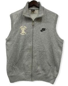 Vtg Nike Blue Tag '87 Mens Wimbleton Liberty Bowl 10k Race Sweatshirt Zip Vest L