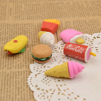 Funny Fast Food Rubber Eraser Cute Kids Student Stationery Gift Chips Cola 1PC