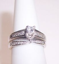 14K WG BRIDAL DIAMOND RINGS SET ESTATE CLEARANCE SALE  BUY IT NOW MAKE OFFER