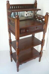 Etagere Bookcase Wooden Phone Entrance Mahogany