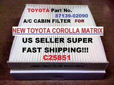 C25851 For Corolla Venza Highlander Rav4 Sienna Sequoia AC CABIN AIR FILTER