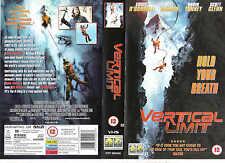 VERTICAL LIMIT VHS PAL CHRIS O'DONNELL,BILL PAXTON,SCOTT GLENN,ROBIN TUNNEY RARE