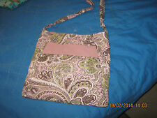 Paisley Green and Pink Hand Made Ladies Purse