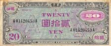 Japan 20 Yen Nd. 1946 P 72 Series 100 circulated Banknote , G. 1C Rare