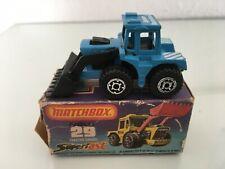 Matchbox Superfast Nr.29Tractor Shovel Sondermodell in BLAUOVP