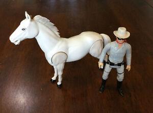 Vintage 1980 Gabriel Legend of the Lone Ranger & Horse Silver Action Figures