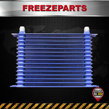 15 Row 10 AN Universal Aluminum Racing Engine Transmission Oil Cooler Blue
