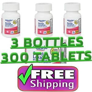 3-count Equate Gentle Laxative Bisacodyl USP Tablets, 5 mg 300 Tab FREE SHIPPING